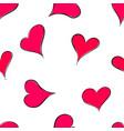 hand drawn saint valentine seamless pattern with vector image