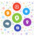 7 brainstorm icons vector image vector image