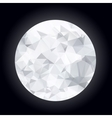 Abstract polygonal moon vector image