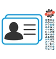 Account Cards Flat Icon With Tools Bonus vector image vector image