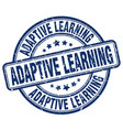 adaptive learning blue grunge stamp vector image vector image