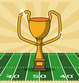 american football bowl tournament vector image vector image