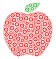 apple collage of cog vector image