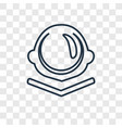 astronaut concept linear icon isolated on vector image