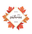 autumn banner with maple leaves frame and trendy vector image vector image