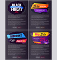 big sale 2017 black friday discounts new offer vector image