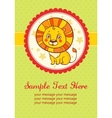 birthday party card with lion vector image vector image