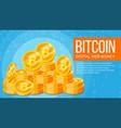 bitcoin banner electronic web money gold vector image vector image