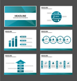 Blue polygon presentation templates Infographic vector image vector image