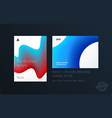 brochure design liquid template colourful blue vector image