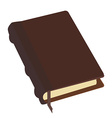 Brown book vector image vector image