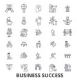 business success concept growth successful vector image vector image