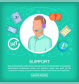 call center concept support voice cartoon style vector image vector image