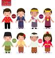 children world singapore malaysia timor vector image vector image