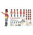 circus trainer animated character creation vector image vector image