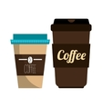 coffee plastic portable container graphic vector image