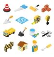 Construction isometric icons set vector image