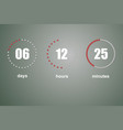 countdown template digital clock vector image vector image