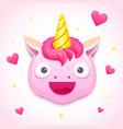 emoji unicorn face vector image