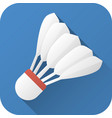 flat icon toy shuttlecock for badminton vector image