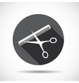 Flat Icon with long Shadow vector image vector image