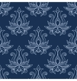 Floral seamless blue paisley pattern vector image vector image