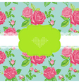 floral shabchic card vector image vector image