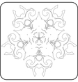 gothic pattern of curves vector image vector image