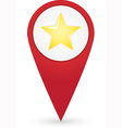 GPS marker with favourites icon vector image vector image
