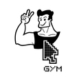Gym web vector image vector image