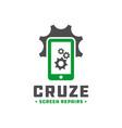 handphone repair technology logo vector image vector image