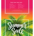 hello summer - leaflet template with brush vector image vector image