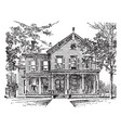 home of william mckinley vintage vector image vector image