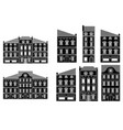 houses old european city street with buildings vector image vector image