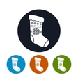 Icon of a Christmas Sock vector image