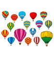 icons sport sketch patterned air balloons vector image vector image