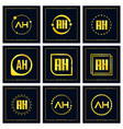 initial letter ah logo set design vector image