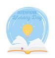 international literacy day open book creativity vector image vector image