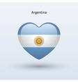 Love symbol Heart flag icon vector image vector image