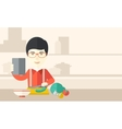 Man cooking food vector image vector image