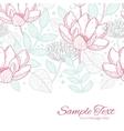modern line art florals horizontal border vector image vector image