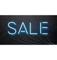 neon sale isolated on black brick wall vector image vector image