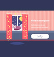 night living room decorated merry christmas happy vector image