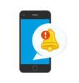 notifications icon on phone vector image vector image