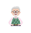 old man with glasses and hairstyle vector image vector image