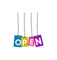 open hanging word vector image