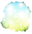 paper hole with spring background vector image vector image