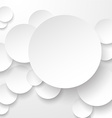 Paper white circles vector image vector image