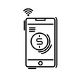payment methods thin line icon pay online mobile vector image vector image