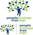 people ecology tree logo 1 vector image vector image